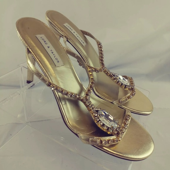 Lord Taylor Womens Shoes Gold Leather